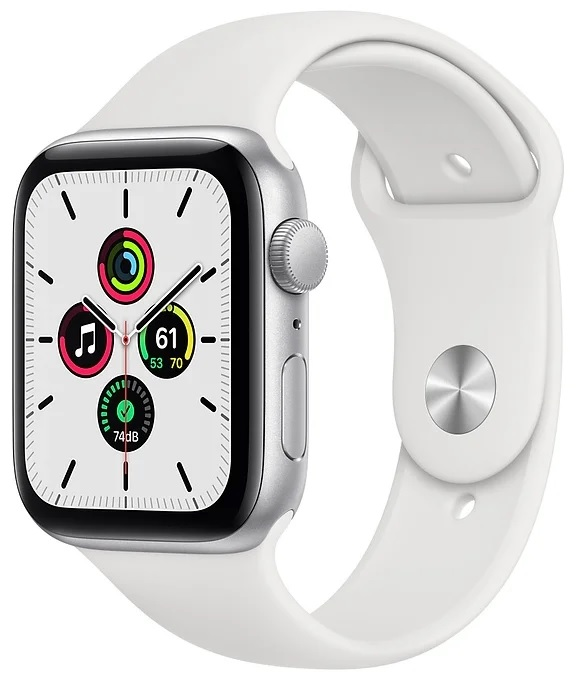 Apple Watch SE GPS 44mm Aluminum Case with Sport Band Серебристый