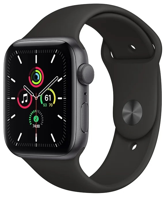 Apple Watch SE GPS 44mm Aluminum Case with Sport Band Серый Космос/Чёрный