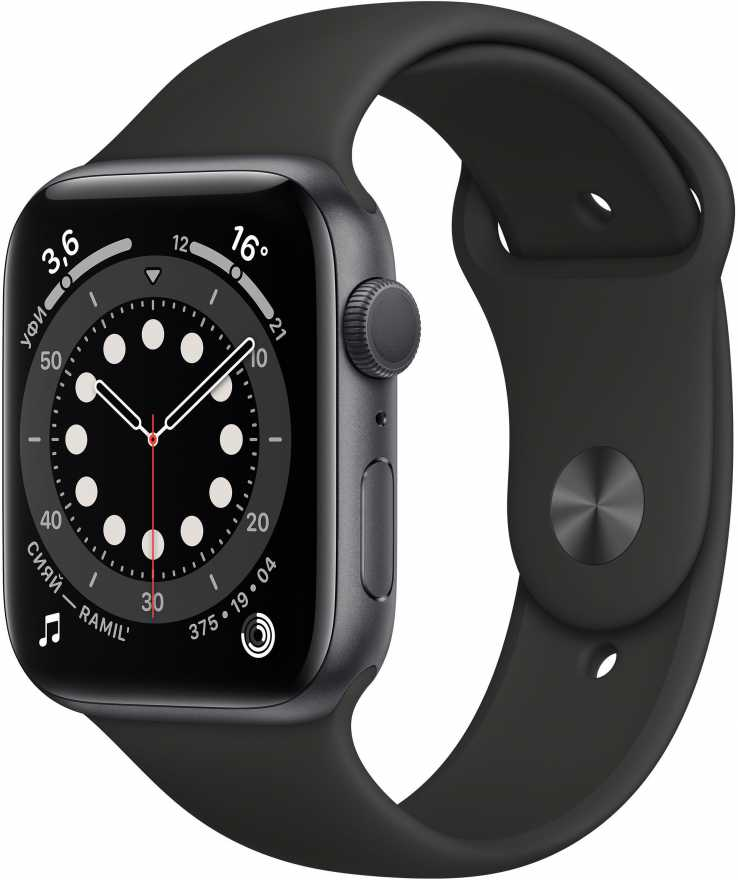 Apple Watch Series 6 GPS 44mm Aluminum Case with Sport Band Серый Космос
