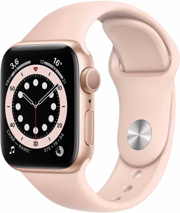 Apple Watch Series 6 GPS 40mm Aluminum Case with Sport Band Золотистый