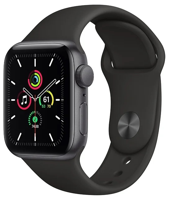 Apple Watch SE GPS 40mm Aluminum Case with Sport Band Серый Космос/Чёрный