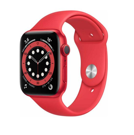 Apple Watch Series 6 GPS 44mm Aluminum Case with Sport Band (PRODUCT)RED