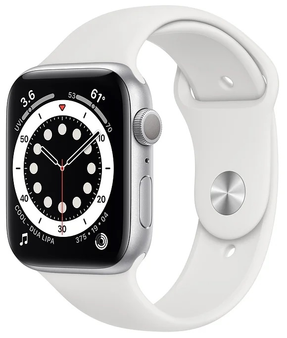Apple Watch Series 6 GPS 44mm Aluminum Case with Sport Band Серебристый